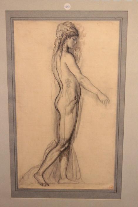 Etude d'après modèle pour Salomé, Gustave Moreau, France, XIXe siècle